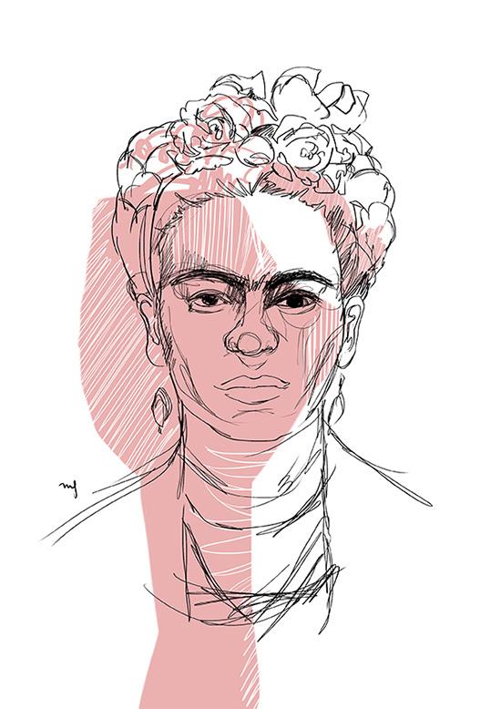 Ilustradora Marta Font, Ilustración Frida