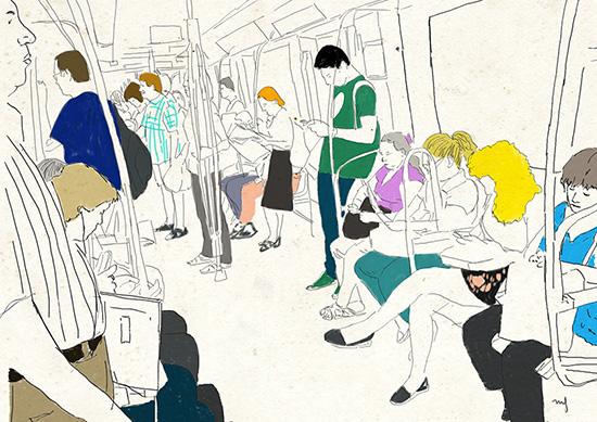 Ilustradora Marta Font, Ilustración Metro
