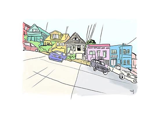 Ilustradora Marta Font, Ilustración San Francisco