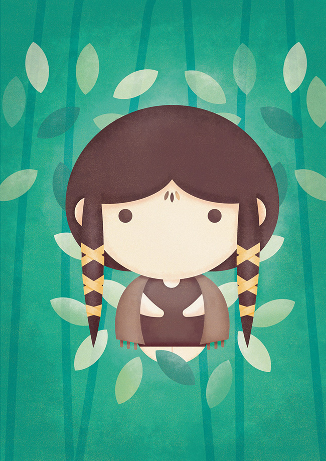 Ilustradora Sara Gummy, Ilustración Avatar Earth