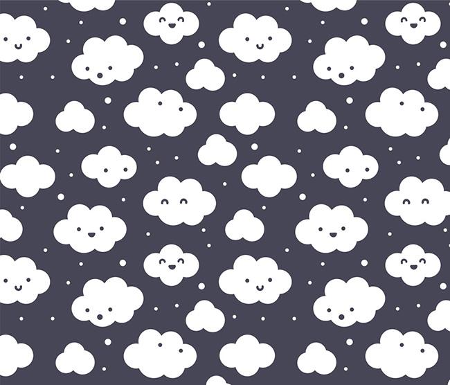 Ilustradora Sara Gummy, Ilustración Cloud pattern