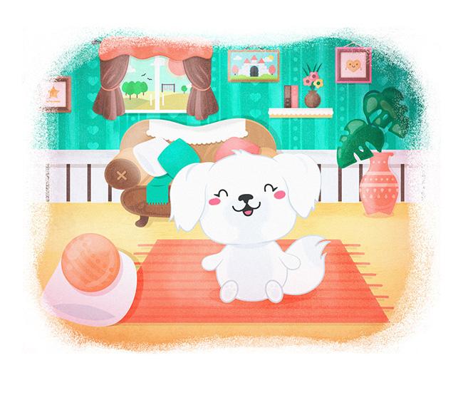 Ilustradora Sara Gummy, Ilustración Cute dog