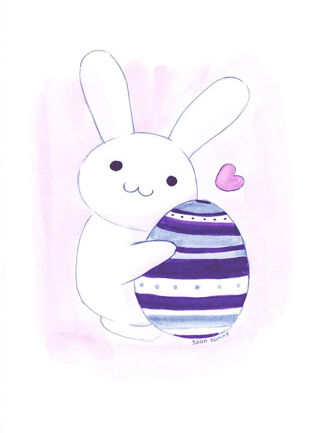 Ilustradora Sara Gummy, Ilustración cute bunny