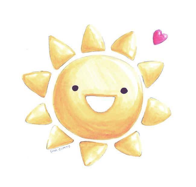 Ilustradora Sara Gummy, Ilustración nature's sunshine