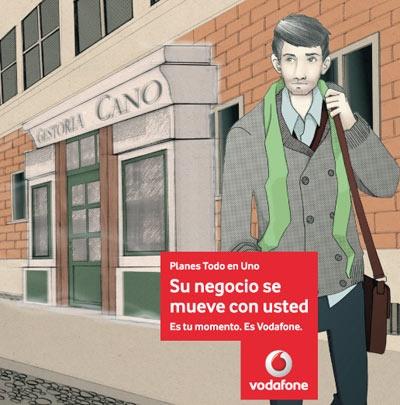agencia de ilustración ilustrador Alfonso Casas Moreno, vodafone 2