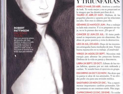 Carmen Ortíz realiza una ilustración de Robert Pattinson para la sección horóscopo de la revista Glamour