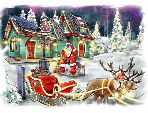 Cristina Serrano Ortuño ilustra Christmas navideño para Agencia Mclaim