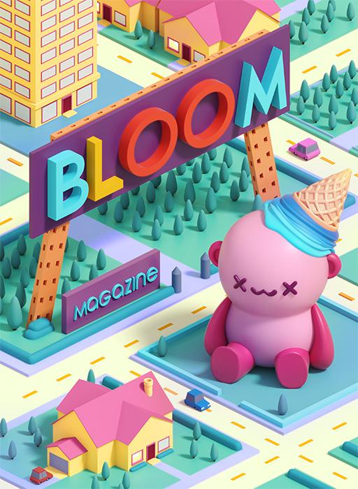 Ilustración corporativa 1 Bloom Magazine revista digital