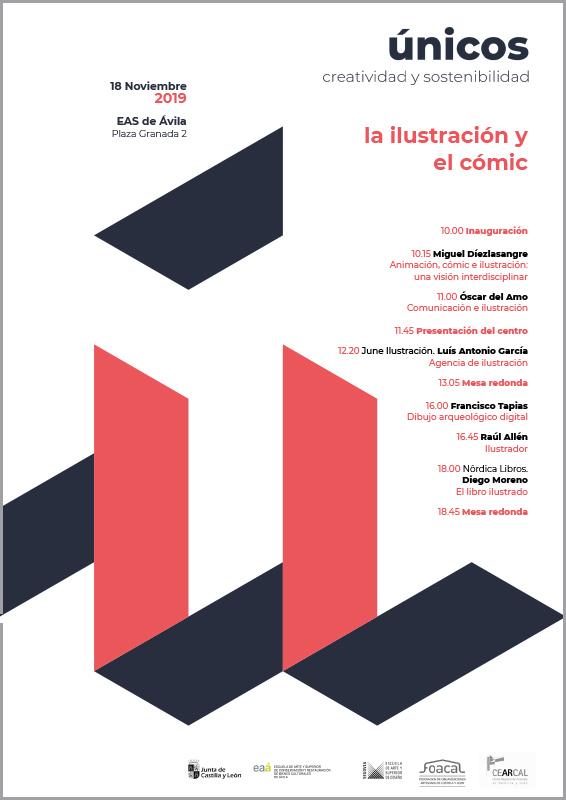 Cartel jornada Ávila Únicos 2019 cómic e ilustración