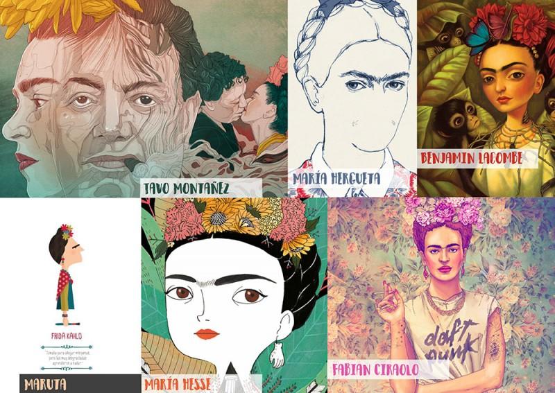ilustradores homenajeadores de Frida Kahlo