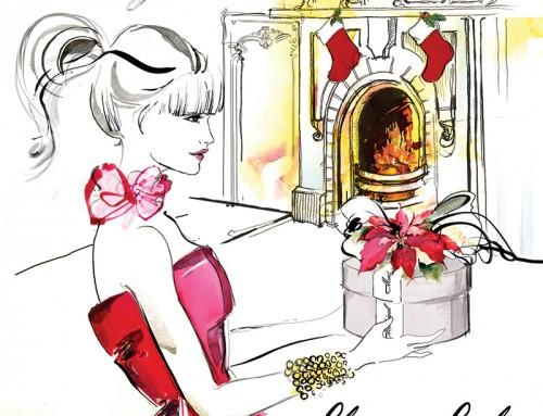 Cruz Martínez realiza Ilustración de Navidad para Peluquerías Madrigal