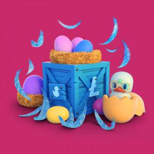 ilustración 3D caja patito feo