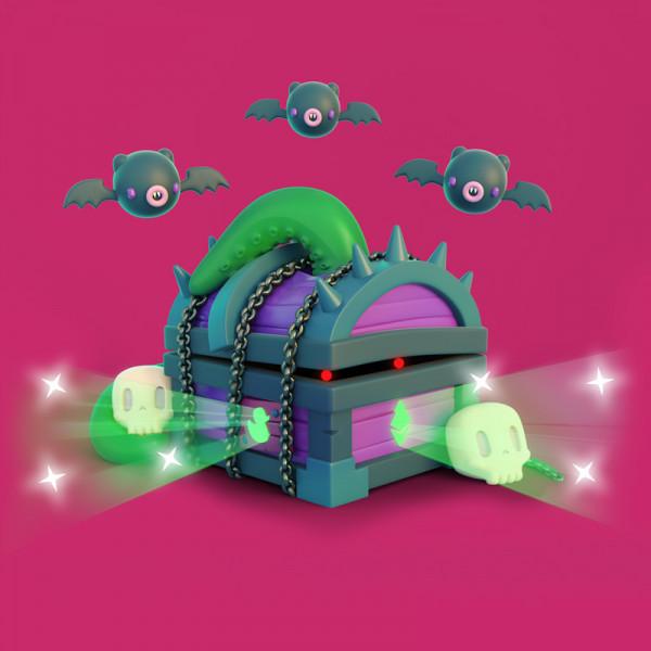 ilustración 3D caja Halloween
