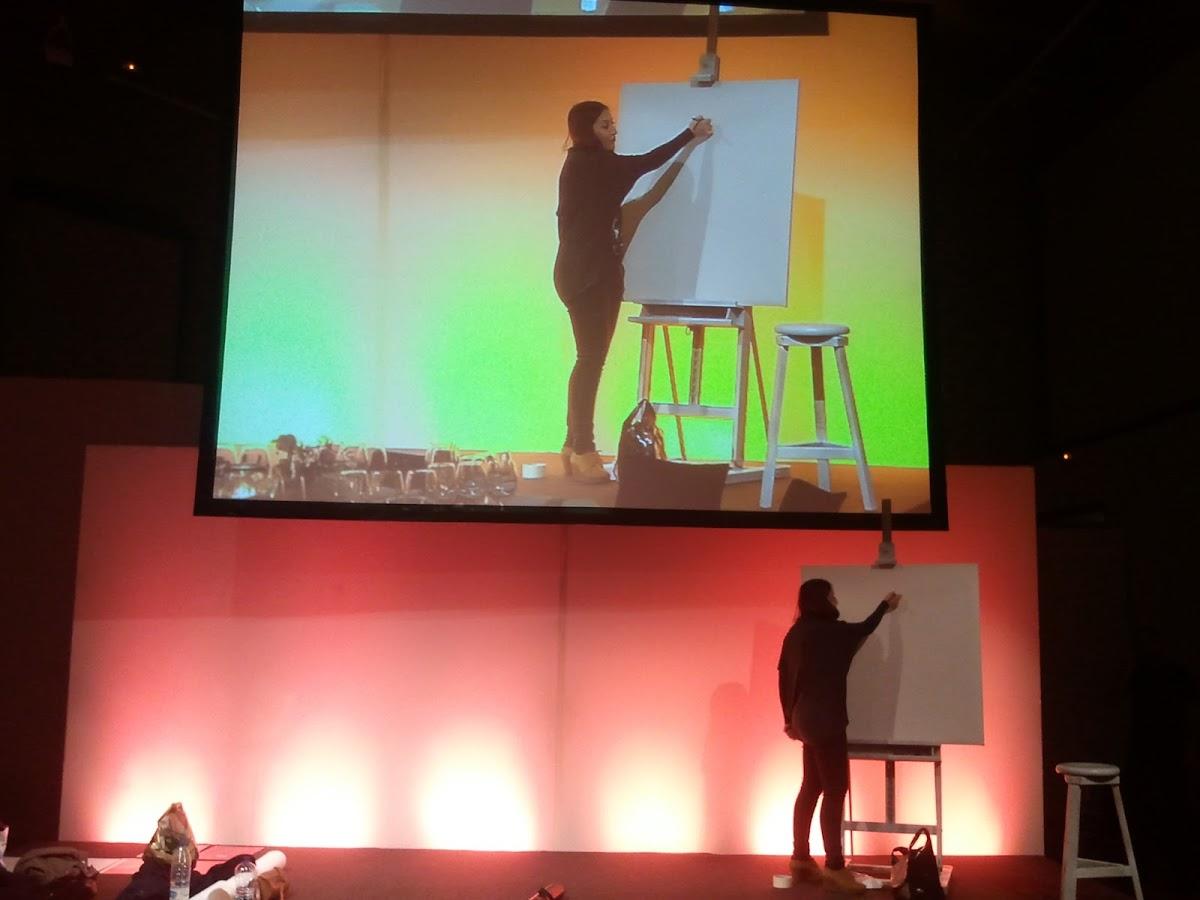 Ilustración Elena Mir pintura en directo 1