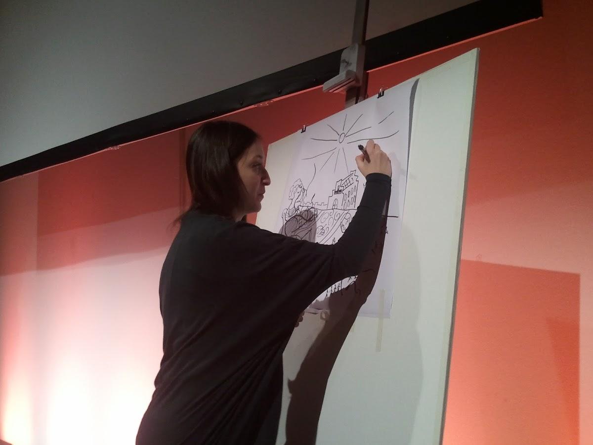 Ilustración Elena Mir pintura en directo 2