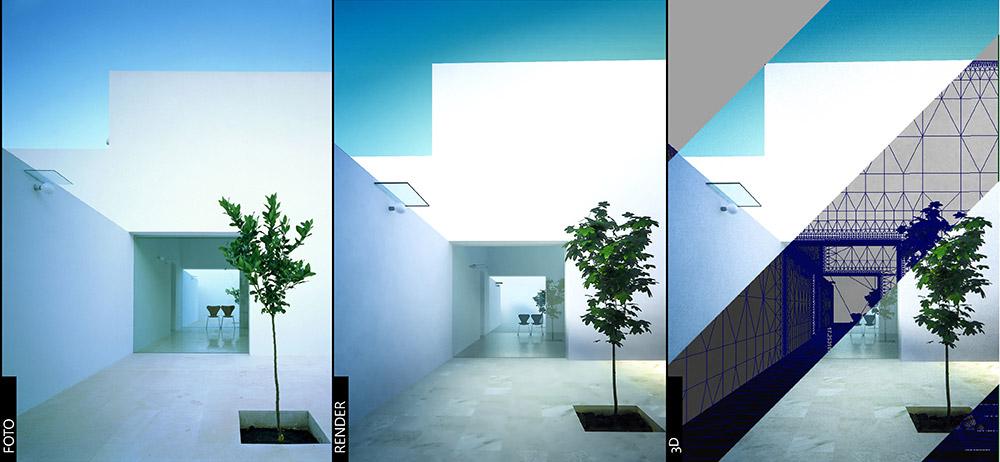 Ilustración infografía arquitectura ilustrador Pedro Lechuga, proyecto Cota Paredes, Gasparhouse, España. 2