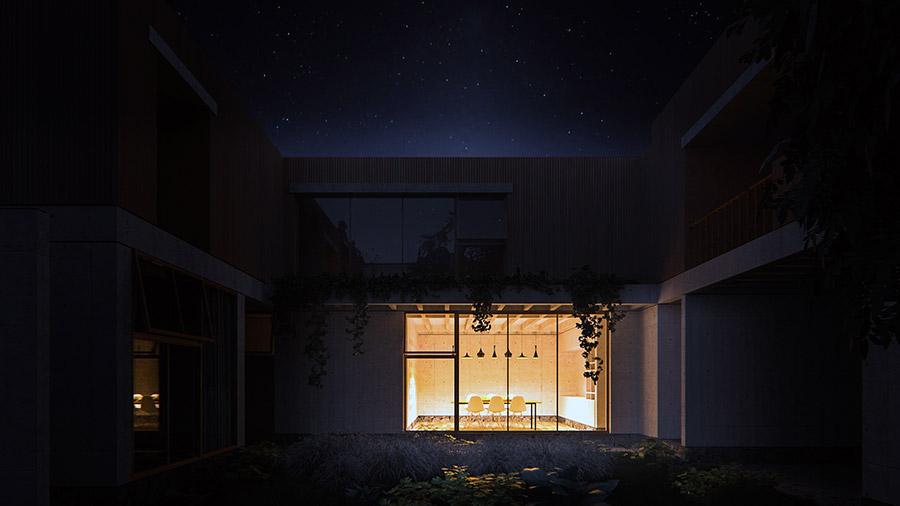 Ilustración infografía arquitectura ilustrador Pedro Lechuga, proyecto Intersticial, La Rica, México