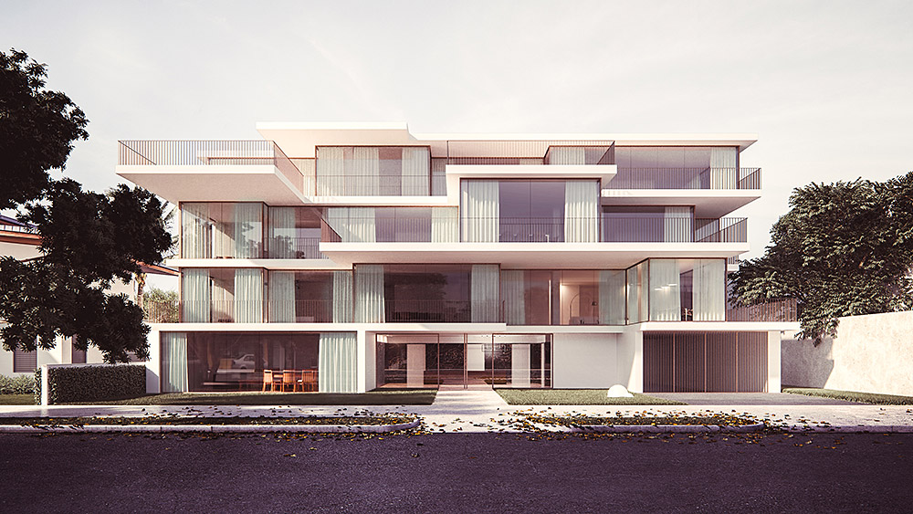 Ilustración infografía arquitectura ilustrador Pedro Lechuga, proyecto Sergio Rebelo, Casa Gdl, Lisboa, Portugal