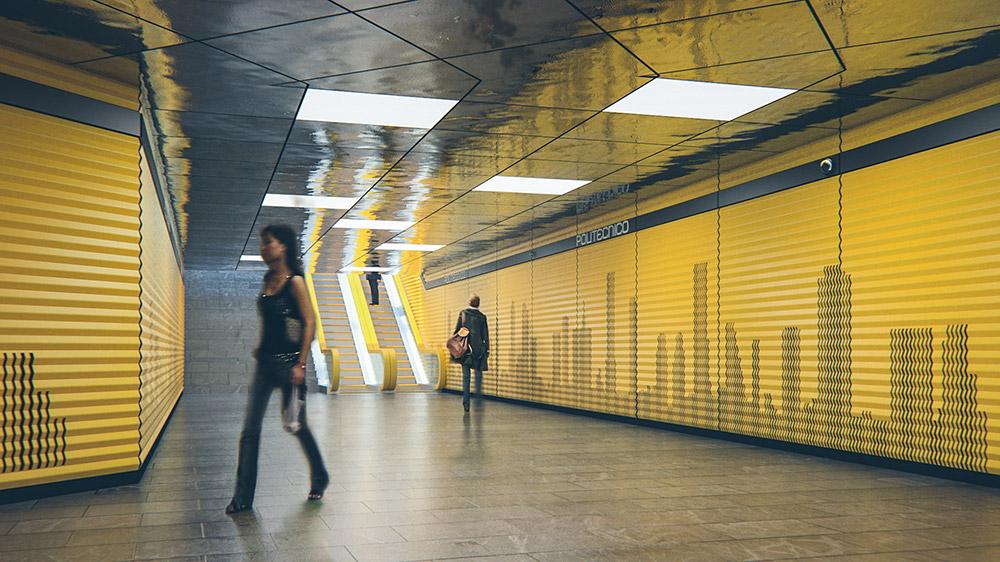 Ilustración infografía arquitectura ilustrador Pedro Lechuga, proyecto Slot Arquitectura, Metro, México
