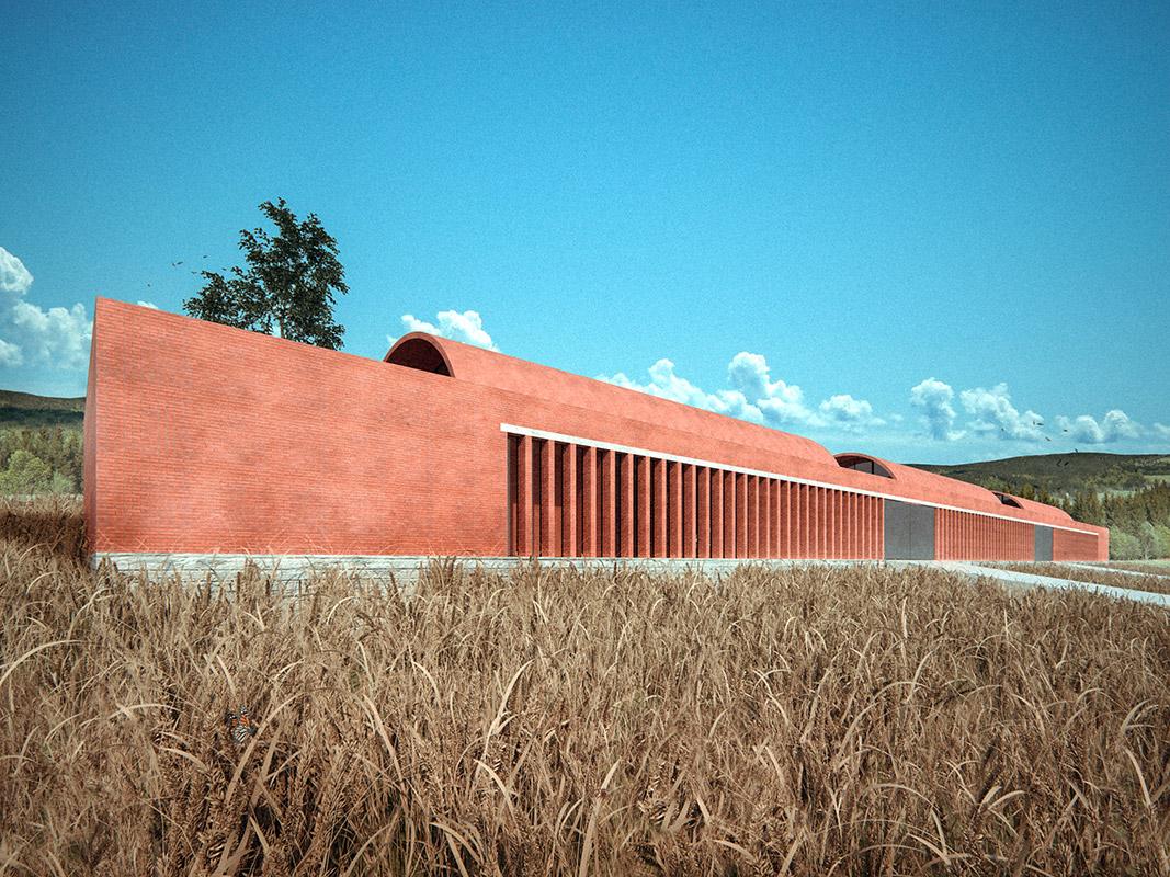 Ilustración infografía arquitectura ilustrador Pedro Lechuga, proyecto Taller Mauricio Rocha + Gabriela Carrillo, Infonavit, México