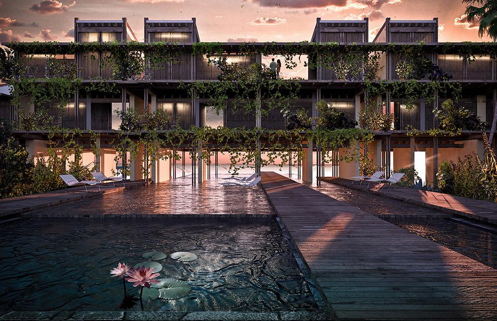 Ilustración infografía arquitectura ilustrador Pedro Lechuga, proyecto Taller Mauricio Rocha + Gabriela Carrillo, Tamarindo, México