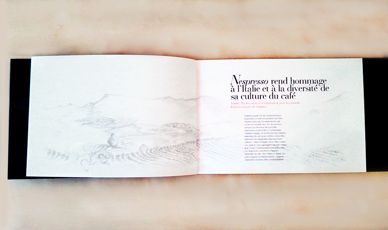 Iustración para Dossier de Prensa Nespresso realizado por la ilustradora Cruz Martínez , 4