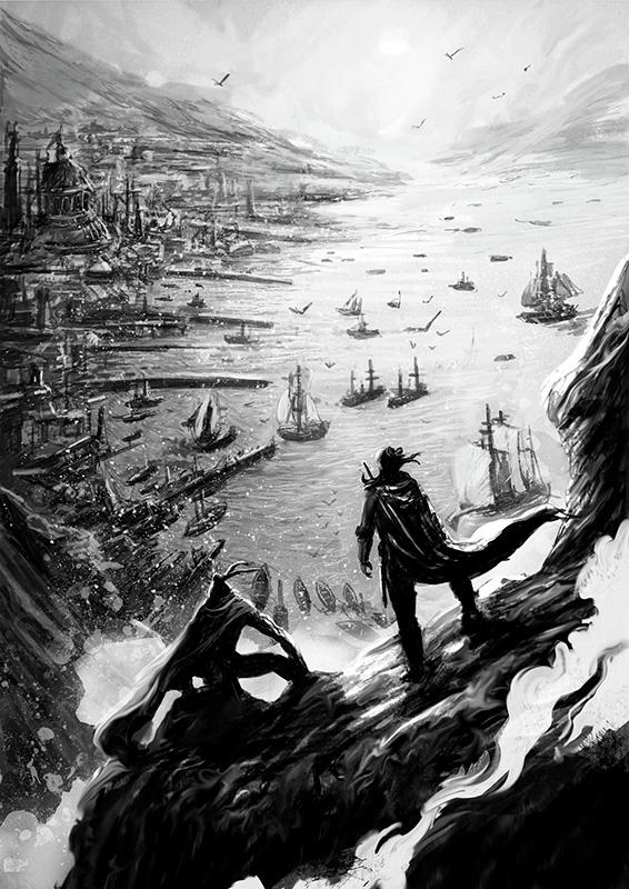 Ilustración Patricio Clarey, novela gráfica Savage, concept art 2