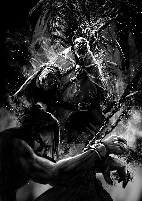 Ilustración Patricio Clarey, novela gráfica Savage, concept art 3