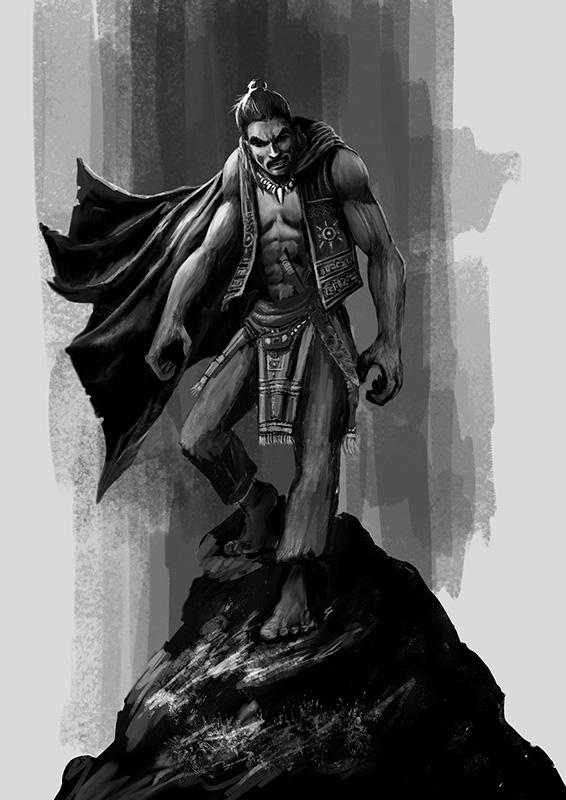 Ilustración Patricio Clarey, novela gráfica Savage, personaje Taino