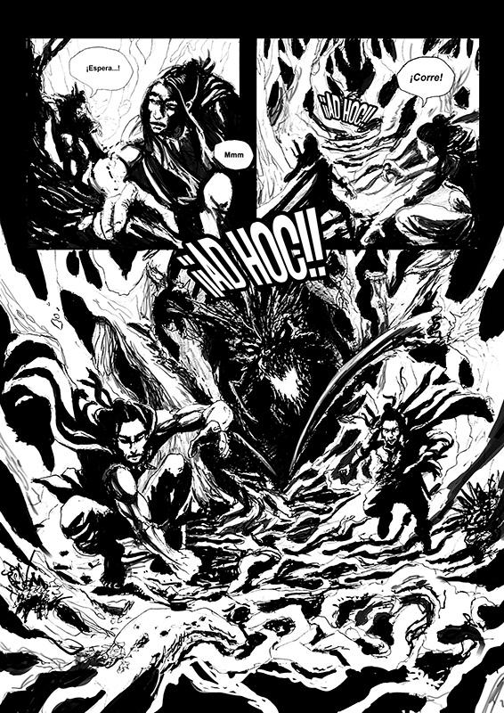 Ilustración Patricio Clarey portada novela gráfica Savage, página 1