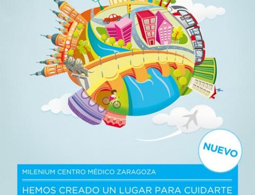 Natalia Rey (Pirusca) ilustra carteles para campaña de apertura de centros Sanitas