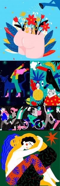 Ilustraciones destacadas ilustradora Perrine Honoré