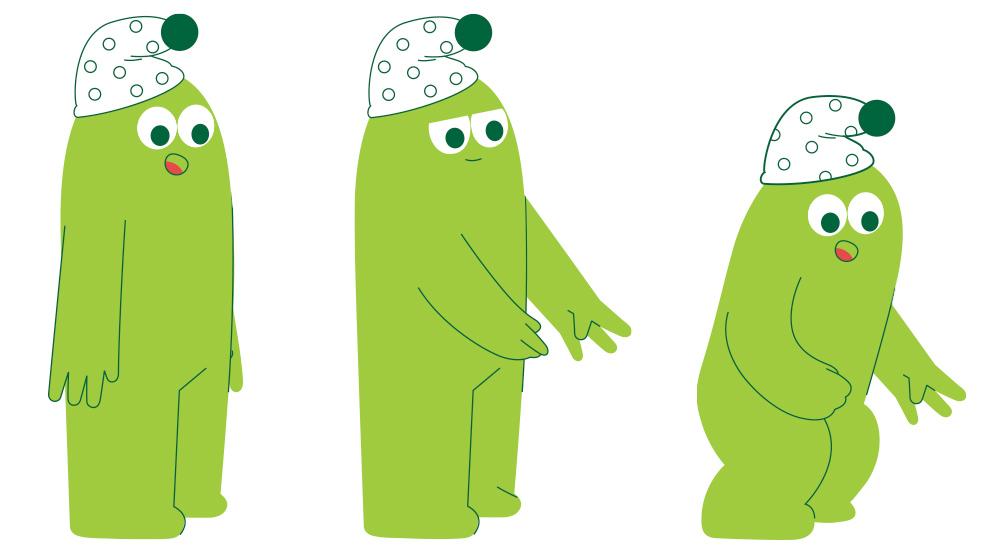 """creación de personaje, character design, realizado por Joelle Carreño para el vídeo """"Hora de soñar"""" de El Corte Inglés"""