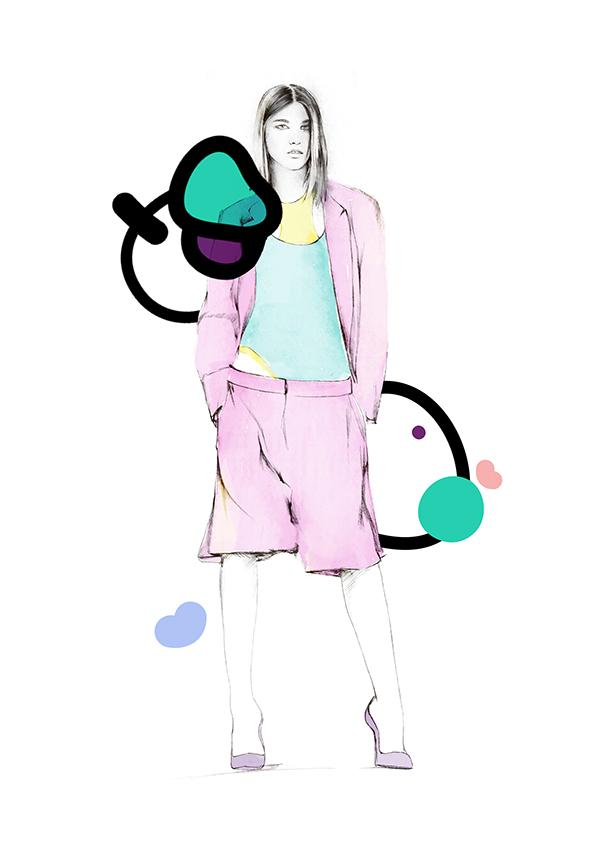 ilustrador Spiros Halaris Ilustración DKNY 2