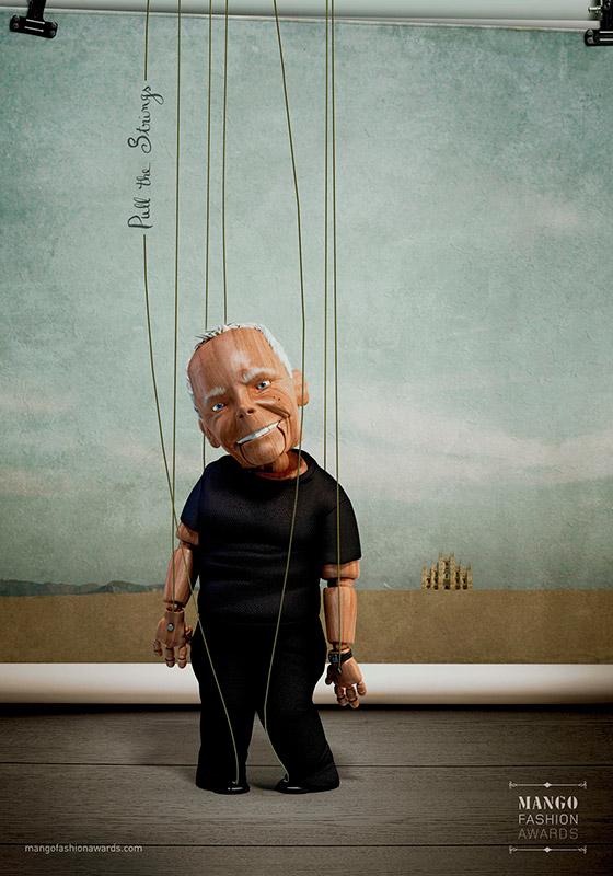 Ilustrador Alex Mateo ilustraciones 3D, ilustración Giorgio Armani