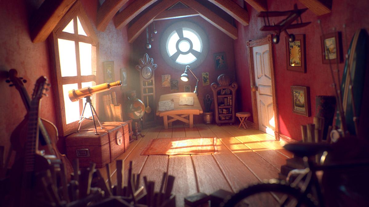 Ilustrador Alex Mateo ilustraciones 3D, artista 3D, CGI Artist, ilustración Attic Studio 1