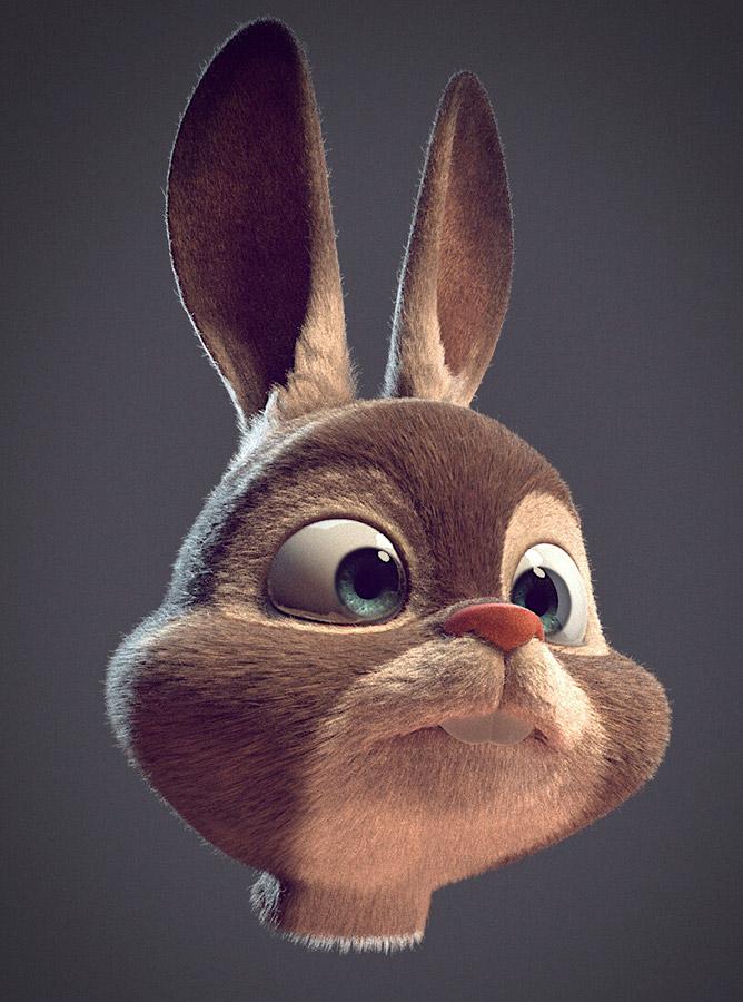 Ilustrador Alex Mateo ilustraciones 3D, artista 3D, CGI Artist, ilustración Rabbit