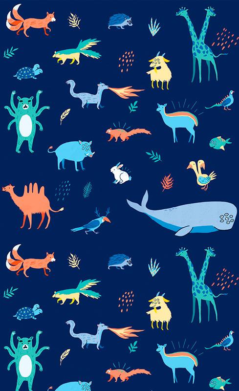 Ilustradora Andrea Castro. Ilustración diseño textil 3