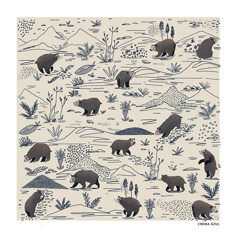 Ilustradora Andrea Castro. Ilustración diseño textil 11