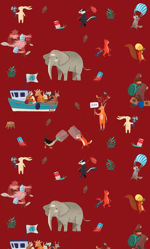 Ilustradora Andrea Castro. Ilustración diseño textil 12