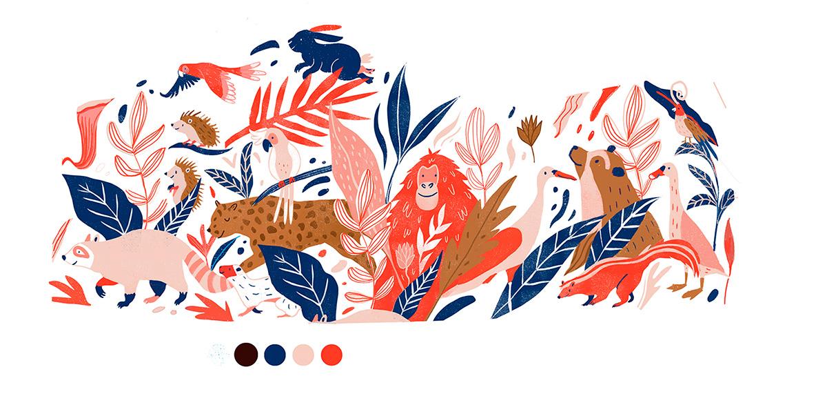 Ilustradora Andrea Castro. Ilustración diseño textil 13