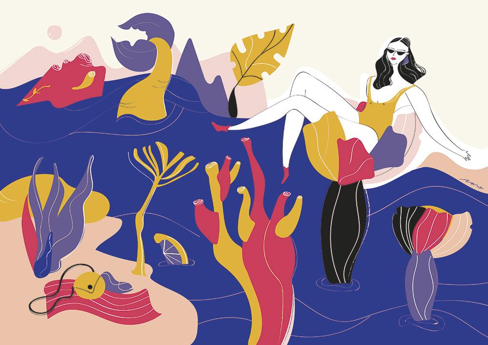 Ilustradora Carolina Altavilla. Holidays beach travel
