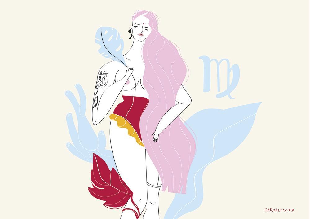 Ilustradora Carolina Altavilla. Naked woman virgo astrology
