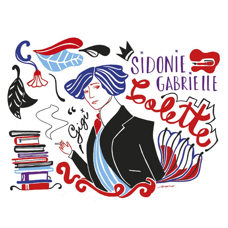 Ilustradora Carolina Altavilla. Portrait artist writer colete