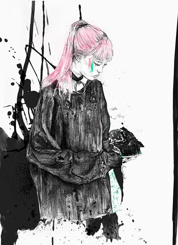 Ilustradora Maribel T Fashion-つぶやく-ilustracion