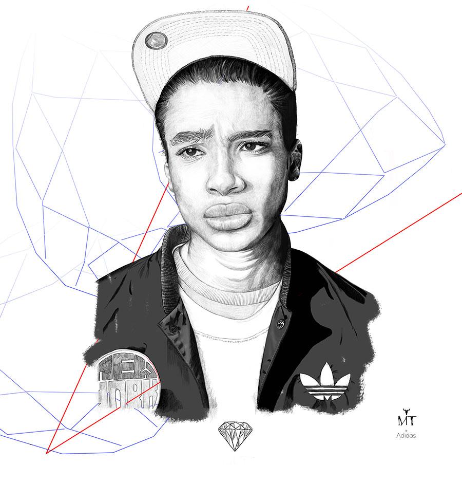 Ilustradora Maribel T Fashion-Adidas-ilustracion