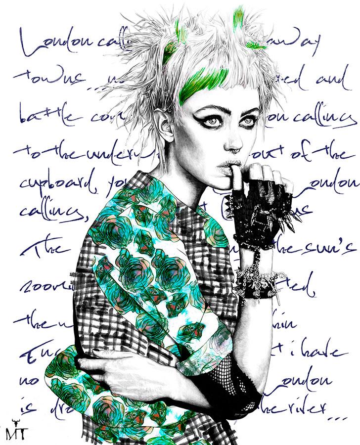 Ilustradora Maribel T Fashion-London-calling-ilustracion
