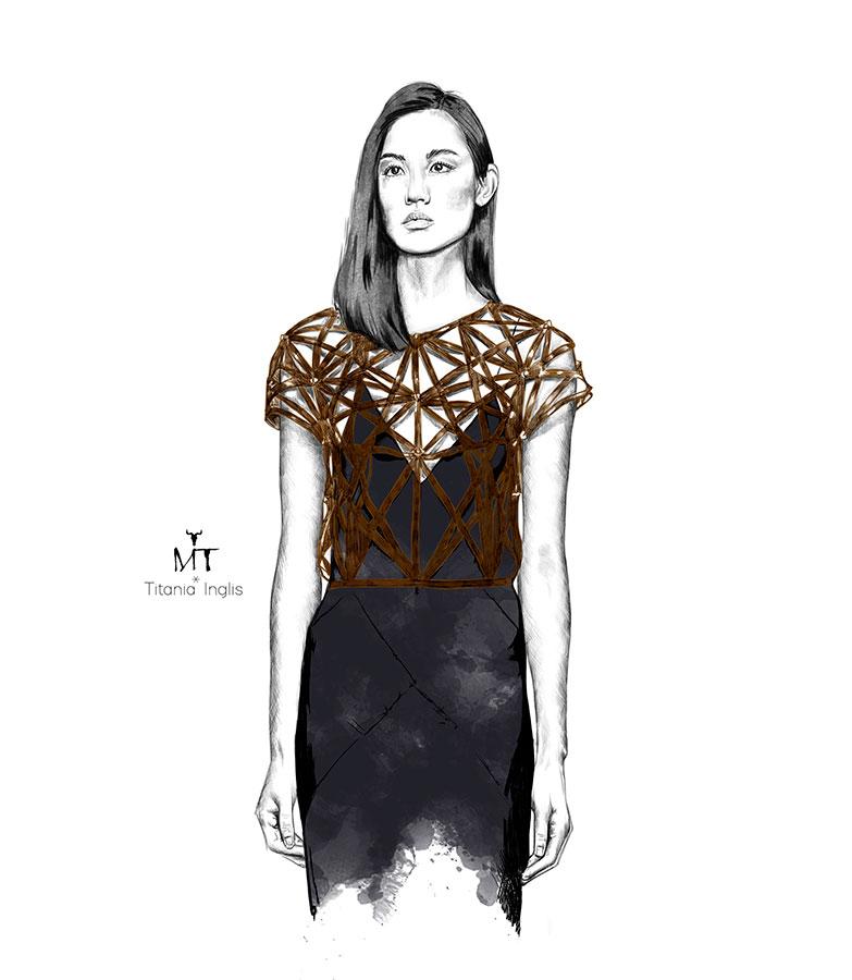 Ilustradora Maribel T Fashion-TitaniaInglis-ilustracion