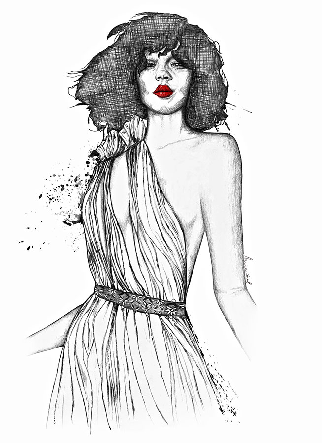 Ilustradora Maribel T Fashion-charles-youseff-ilustracion