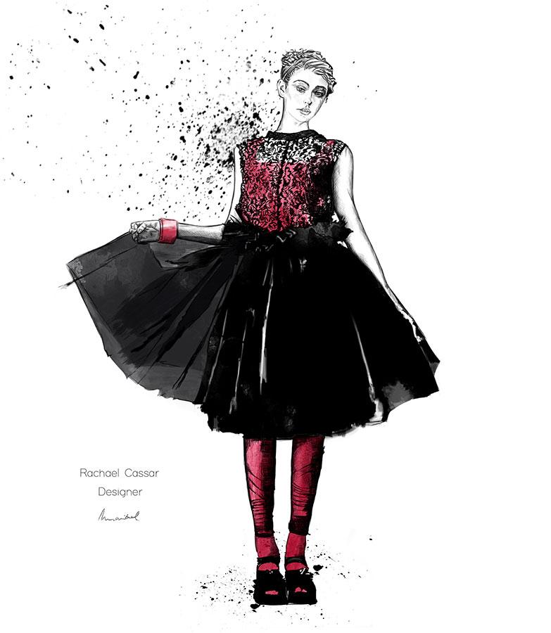 Ilustradora Maribel T Fashion-rachael-cassar-ilustracion